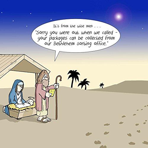 Biglietti Di Natale Divertenti.Twizler Merry Christmas Card Con Gesu Betlemme Re Magi E Missed