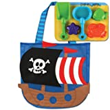 Stephen Joseph Pirate Beach Totes with S...