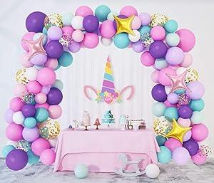 Unicornio Cumpleaños Decoración Globos 138