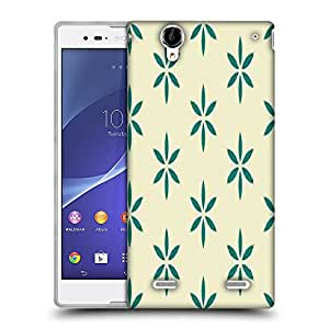 Snoogg Green Floral Designer Protective Phone Back Case Cover For Sony Xperia T2 Ultra