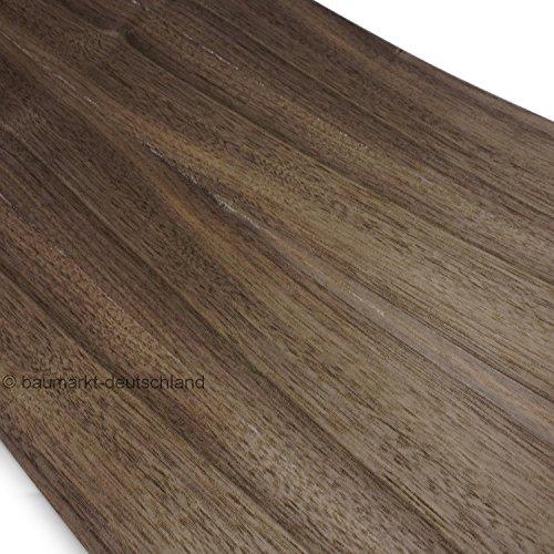 Echtholzfurnier ohne Schmelzkleber 280x28cm Nussbaum amerikanisch