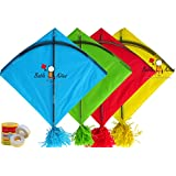 Babla Kites 40 Colour Indian Fighter Rocket Kites Size 45.5 * 58.5 Centimeters