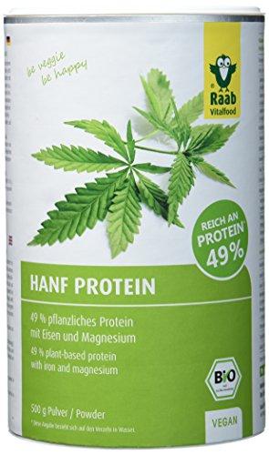 Raab Vitalfood Bio Hanfproteinpulver, 1er Pack (1 x 500 g) - Bio (Verdauliches Eiweiß)