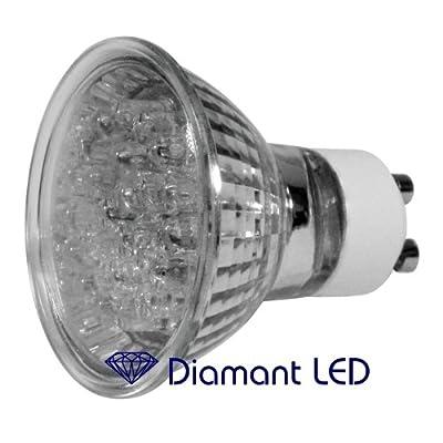 Marken GU10 LED Spot - 24 LED mit Sicherheitsglas 60° Abstrahlwinkel Alureflektor 230V Spiegellampe von DiamantLED ® bei Lampenhans.de