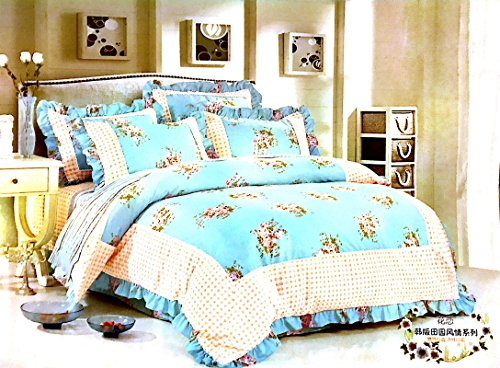 Lazzaro Luxus und atemberaubende Spitzenbesatz Versailles King Bettwäsche Bettbezug Bettwäsche Set Weiß