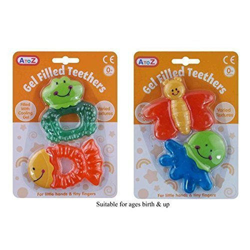 Gel Filled Teethers – Pack of 2 Assorted Designs 51EcQND9NgL
