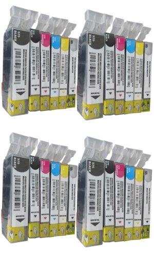 24 Tinten Patronen für Canon mg6100 mg6150 mg6200 mg6250 mg8100 mg8150 mg8200 mg8250 / kompatibel 4 x schwarz 4 x photoschwarz 4 x blau 4 x rot 4 x gelb 4 x grau (Tinte Shop)