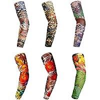 Mangas de brazo de refrigeración para niños y mujeres, mangas de tatuaje falso, temporales de tatuaje para mujeres y hombres para senderismo/ciclismo/conducción/baloncesto/voleibol y al aire libre