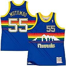 Mitchell & Ness dikembe mutombo # 55 Denver Nuggets 1991 – 92 Swingman NBA Camiseta Azul