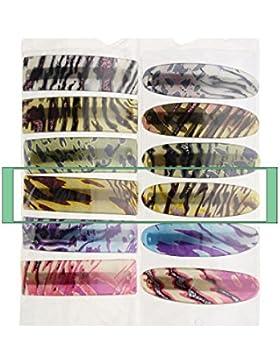 2Stück große Haarspangen, Haar Clips bedruckt Motiv, Gepard–ref4