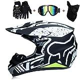 Die besten Full Face Motorradhelme - QYTK® MT-221 Integralhelm Motorradhelm, Full face Motocross Helm Bewertungen