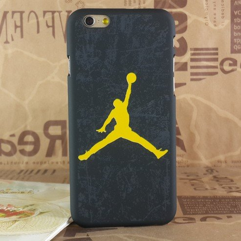Air Jordan Luminous PC Hard Schwarz Case für Apple iPhone 5/5S & 6/6S, NO.23 BLUE, Apple iPhone 5/5S SHADE YELLOW