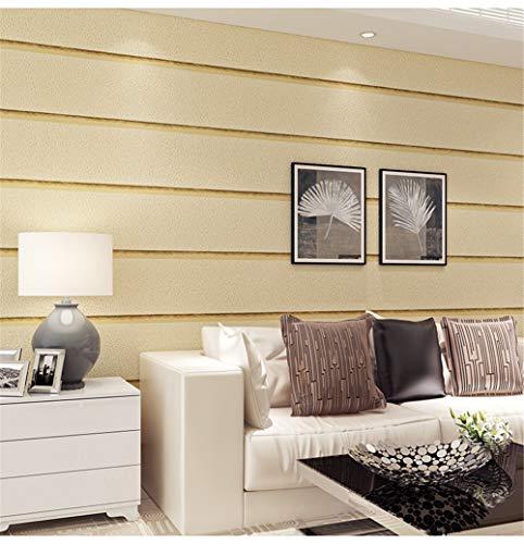 AOOZU Moderne Minimalistische 3D-Simulation Marmorfelsen Tapete Querstreifen Wohnzimmer TV Hintergrund Wandtapete PVC 10x0.53m
