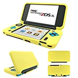 MaxKu New Nintendo 2DS XL Hülle, Silikon Tasche Slim Soft Gel Protective Case Cover für Nintendo New 2DS XL (Gelb)