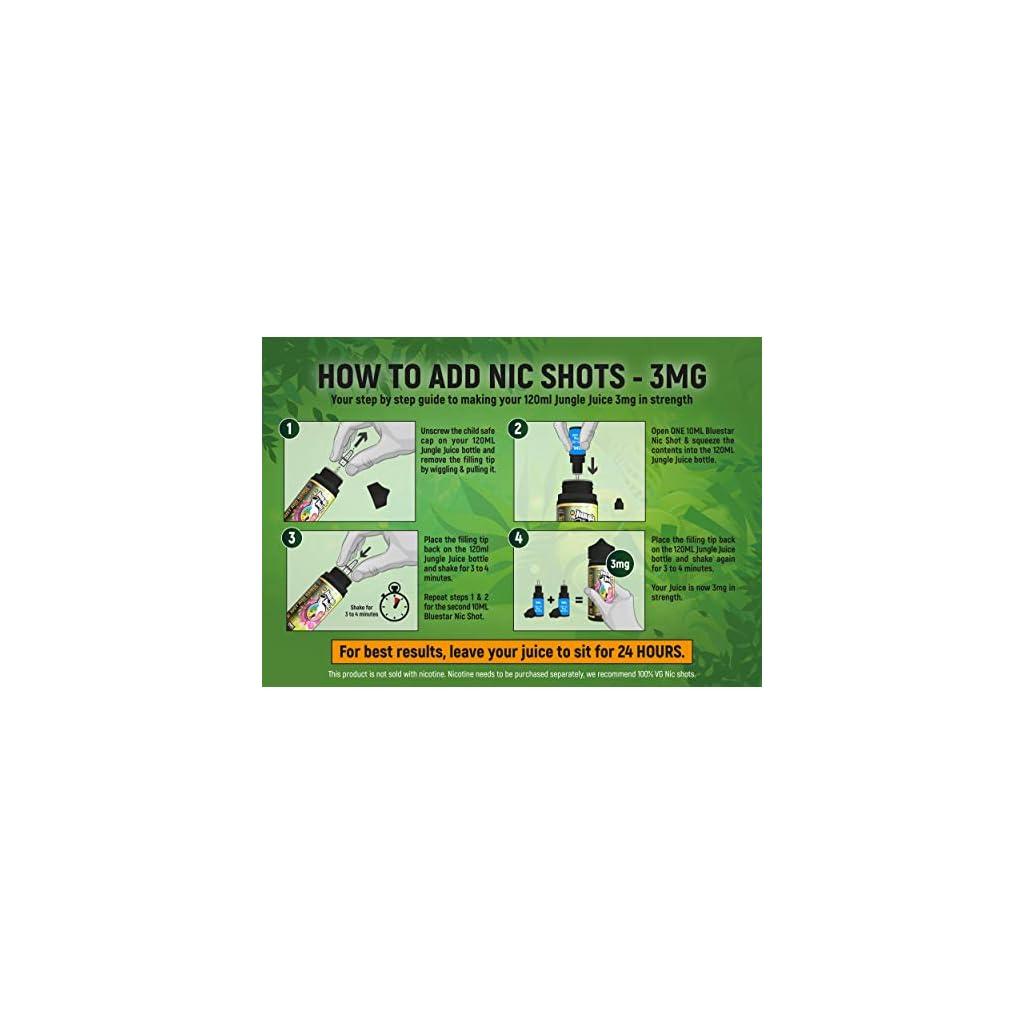 Nicotine Free 0%   100ml Jungle Juice Premium Vape Liquid Bumper Pack   E  Liquid & 30ml Needle t