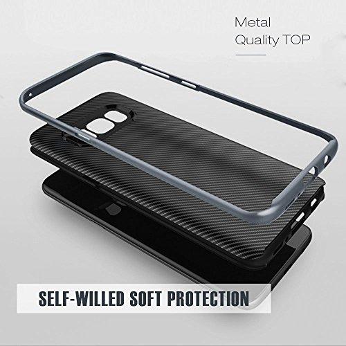 Schutzhülle Samsung Galaxy S8 Hülle, Ubegood Galaxy S8 Handyhülle Tasche Bumper Case Soft Silikon Case für Samsung Galaxy S8 Case Cover (5,8″) – Jet Schwarz - 6