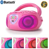 Lauson CP453 Radio CD Bluetooth Portable avec Effet LED Lecteur CD Port USB MP3 Radio...