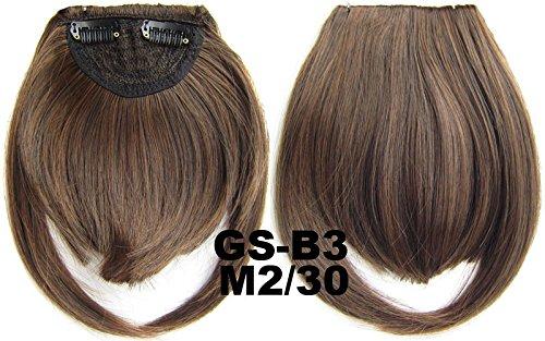 # 2 _ 30 m 100% fibre synthétique haute température Clip dans/sur cheveux avant frange frange cheveux