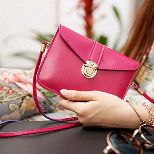 ❤Kanpola Mädchen Zero Geldbörse Tasche Kunstleder Einzelne Schultertelefon-Tasche Großzügig Pink