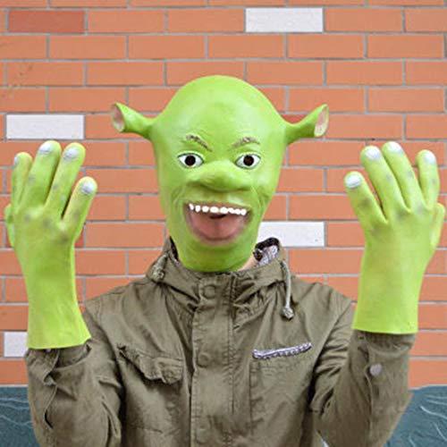 LLY Shrek Maske Alien Halloween Horror Kopfbedeckung Shrek Cosplay (Film Halloween Shrek)