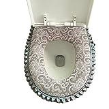 Vimeet Wärmer Waschbar WC-Sitz-Pad Badezimmer Bad WC-Sitzbezüge Toiletten Sitzbezug Closestool