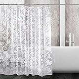 kilokelvin Anti-Schimmel Duschvorhang 12 Ringe Poliert Metall Blickdichter Vorhang in Aus 100% EVA 70x70 inch(Löwenzahn)