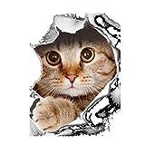 Bibabo25Chat mignon Chien Housse d'abattant WC de salle de bain Décoration murale Autocollant–Chien, PVC, chat, Taille unique