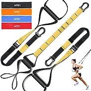 INTEY Suspension Training, Bande Elastiche Fitness Incluso Ancoraggio Porta, Cinghie di Maniglie Ammortizzate