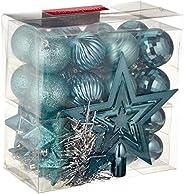 WeRChristmas - Set di decorazioni natalizie, 42 pezzi tra cui palline, punta per albero di Natale e ghirlanda