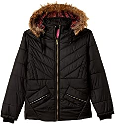 Qube By Fort Collins Girls Jacket (18105 FA_Black_26(6 - 7 years))