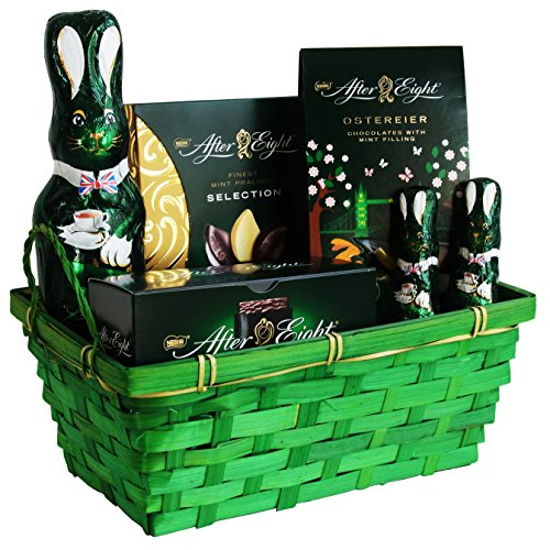 Geschenk Set Osternest Happy Easter mit Nestlé After Eight (6-teilig) Fertige Osternest