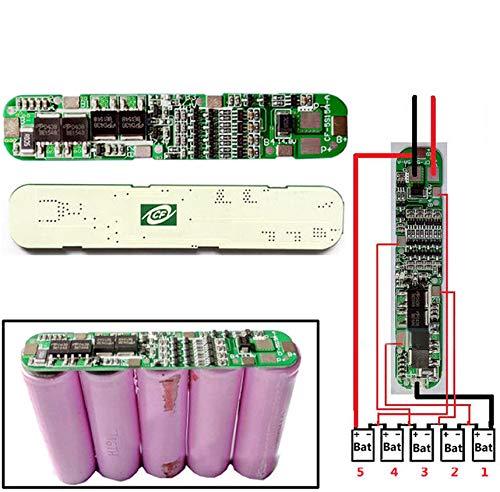 Paquete baterías Ion Litio 18650 5 Celdas, protección