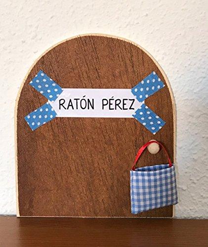 Ratoncito Pérez: La auténtica puerta mágica  Con una preciosa bolsita de tela (incluída de regalo) para dejar el diente. El Ratoncito Pérez, vendrá a por tu diente y dejará una monedita