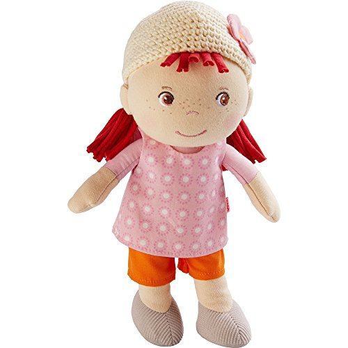 Haba Puppe Betty, Plüsch Figur, Plüschfigur, Kuschelfigur, Stoffpuppe, Puppenspiel, Spielzeug, 303151