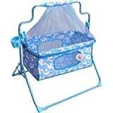 FUNBABY - Baby Mobile Cradle/Crib Cum Swing With Mosquito Net With Pillow For Kids