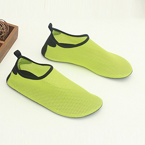 Zhuhaitf Lightweight Unisex Adult Beach Sports Breathable Non-Slip a Piedi Nudi Aqua Shoes Nuotare Diving Yoga Lemon Yellow