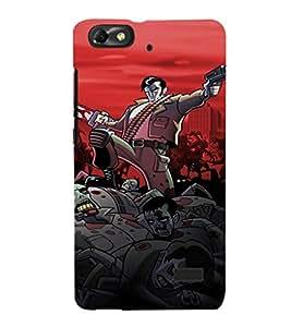 EPICCASE Zombie Killer Mobile Back Case Cover For Xiaomi Redmi Mi4c (Designer Case)
