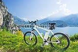 E-Bike, Pedelec, lago de Garda, diseño de bicicleta, bicicleta de montaña de (53440012), lona, 140 x 90 cm