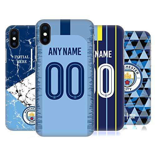 Head Case Designs Manchester City Man City FC Coutume Personnalisé 2018/19 Étui Coque D'Arrière Rigide pour Apple iPhone Téléphones