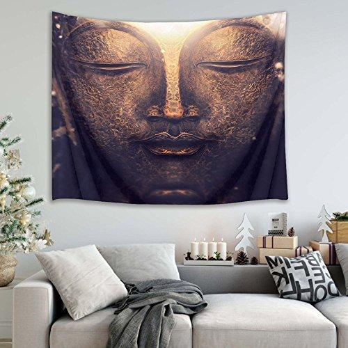 Teppichen Mit Indische Küche (Orientalische indische buddhistische Kultur Buddha-Kopf Bild drucken Wandbehang Tapisserie Strand Tisch Tuch Tuch Wohnaccessoire 200 Breite x 150 Höhe cm)