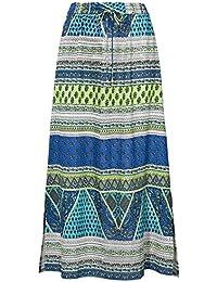 TopsandDresses Women's Long Indian Skirt In Paisley Purple or Blue UK Size 10-28