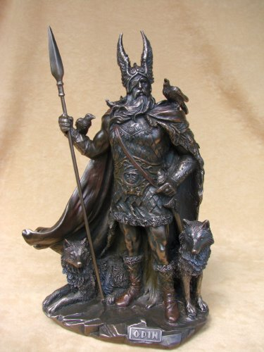 Odin Germanisch Gott Wodan bronziert 2011 Figur
