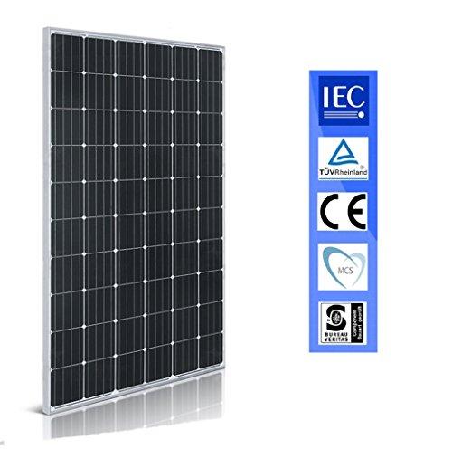 Desconocido Panel Solar 250w Placa Solar Monocrystalline 60 Celulas Negro