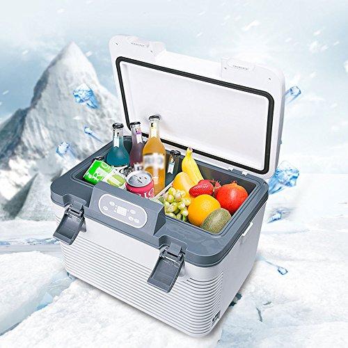 Mini-Kühlschränke Auto Kühlschrank Kompressor Kühlbox Gefrierbox Mit 12/24/220 Volt Anschluss Für PKW Und LKW Kapazität 19L White-19L