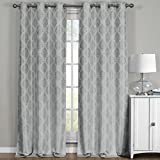 Meridian plata ojal apagón cortina de ventana de cortinas, par/Set de 2paneles, 52x 84cm cada uno, por Royal Hotel