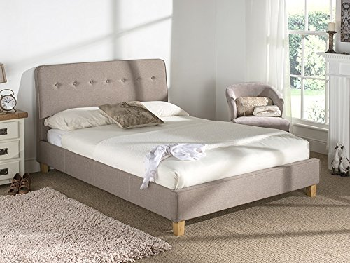 Snuggle Beds Luca (Oat) 4FT6 Double Fabric Beds