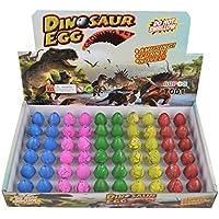 Wenosda Huevos de Dinosaurio Huevo de incubación Crecimiento de Huevo de dragón para niños tamaño pequeño Paquete de 60pcs (Grieta Colorida)