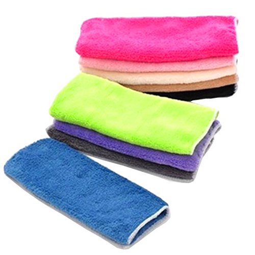 "QISC No Mildew Smell from Sponges, Scrubbers, Wash Cloths, Rags, Brush | Outlast ANY Kitchen Scrubbing Sponge or Cotton Dishcloth (9.75"" x 9.75"", multi-color)"