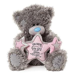 Me To You APD01003 Tatty Teddy - Oso de Peluche con Estrella, Color Gris