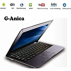 G-Anica® Netbook Ordinateur Portable Ultrabook Android 5.0 HDMI écr.10 (WiFi-SD-MMC) (Noir)